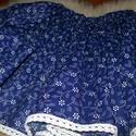 djcheri-nek! Kékfestő, néptáncos szoknya, 60 cm hosszú megkötős kékfestő szoknya.