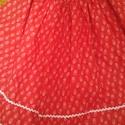 vendeg307929-nek! Piros pörgős szoknya, 55 cm hosszú szoknya, gumis derékkal. Csipke és...