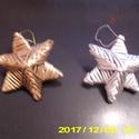 Karácsonyi csillag, Dekoráció, Papírból készült,évekig megmarad. Arany és ezüstszínben .készítettem., Meska