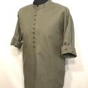 Magor ing, zöld pamutvászon, S-4XL, Zöld 100% pamutvászonból, az elején 9db ruszti...