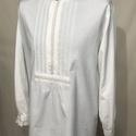 Regő alkalmi ing, pamutvászon, S-4XL, Fehér színben 100% pamutból. A nyakán,mandzset...
