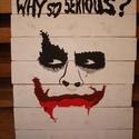 Filmes deszkakép - Joker, Dekoráció, Otthon, lakberendezés, Kép, Falikép, Festészet, Ha kedveled a filmeket és a minimalista stílust, akkor a filmes deszka sorozat kedvedre való lesz! ..., Meska