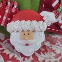 Mikulás ajándék mézeskalácsból kicsi, Dekoráció, Ünnepi dekoráció, Karácsonyi, adventi apróságok, Karácsonyi dekoráció, Mézeskalácssütés, Íme egy remek ötlet Mikulásra! Mézeskalácsból mikulás arc! Gyermekek és felnőttek részére egyaránt!..., Meska