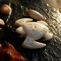 maori teknős , Ékszer, Medál, Nyaklánc, Az óceáni teknős a termékenységet és a hosszú életet szimbolizálja a maori kultúrában.  M..., Meska