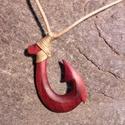 Horog medál lefoglalva gzs068 részére, Ékszer, Medál, Nyaklánc, Ékszerkészítés, Famegmunkálás, Szilvafából készült horog, hagyományos maori horogkötési móddal.  Maori jelentése: jólét, erő, egés..., Meska