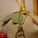 Dragonfly medál, Ékszer, Medál, Őszi színekben pompázó kb 6 cm hosszú medál. Barna, arany, zöld, sárga - csodás együtt. A ..., Meska