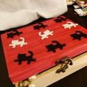 Cicás doboz, Dekoráció, Mindenmás, Dísz, Huncut cicák mászkálnak a dobozon, ezzel vidámmá teszi., Meska