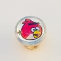 Angry birds   fogantyú! , Otthon, lakberendezés, Dekoráció, Bútor, Fogantyú, Gyurma, Üvegművészet, Egyedi készítésű design fogantyú!   Alapja egyedi tervezésű alumínium, amiben egy kis madaras kép v..., Meska