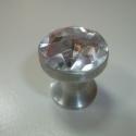 Akril kristály fogantyú! , Otthon, lakberendezés, Dekoráció, Bútor, Fogantyú, Gyurma, Üvegművészet, Egyedi tervezésű akril design fogantyú.  Alapja egyedi tervezésű alumínium, amire különleges csiszo..., Meska