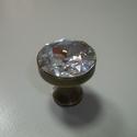 Swarovski kristályból készült fogantyú! - nagy kristály, Otthon, lakberendezés, Dekoráció, Bútor, Fogantyú, Gyurma, Üvegművészet, Swarovski kristályból készült fogantyú!  Egyedi tervezésű swarovski design fogantyú! Szép csillogó,..., Meska