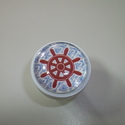 Tengerész fogantyú - 3! , Otthon, lakberendezés, Dekoráció, Bútor, Fogantyú, Gyurma, Üvegművészet, Egyedi készítésű design fogantyú!   Alapja egyedi tervezésű alumínium, ami fehérre van festve, benn..., Meska