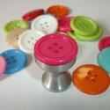 Gomb fogantyú! - pink, Otthon, lakberendezés, Dekoráció, Bútor, Fogantyú, Egyedi tervezésű akril design fogantyú.  Alapja egyedi tervezésű alumínium, amire akril gombot..., Meska