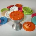Gomb fogantyú! - narancssárga, Otthon, lakberendezés, Dekoráció, Bútor, Fogantyú, Egyedi tervezésű akril design fogantyú.  Alapja egyedi tervezésű alumínium, amire akril gombot..., Meska
