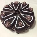 Csoki torta, Játék, Polár anyaggal bevont szivacs, tépőzárral összerakható. Saját készítésű., Meska