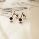 vidám darabok kicsi ametiszt, Ékszer, Fülbevaló, Rohangálós fülbevalók ametiszt gyöngyös  darabja. 5 mm-es lila ametiszt gyöngyöt foglaltam egybe,egy..., Meska