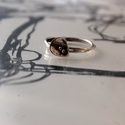 """aranygömbös szirom gyűrű, Ékszer, Gyűrű, A """"szirom"""" ékszereim megelőzték a csipkebogyós formákat. Most egy kis időre visszatértem hozzájuk. 2..., Meska"""
