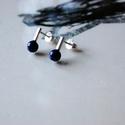 vidám darabok lápisz, Ékszer, Fülbevaló, Rohangálós fülbevalók színes darabja. Éj kék lápisz gyöngyöt foglaltam egybe,egy 1,3 mm anyagvastags..., Meska