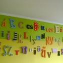 Teljes magyar ABC, Dekoráció, Nagyon látványos dekoráció. Nincs két egyforma szett, hisz a lehetőségek végtelenek. A betűk 2 cm va..., Meska