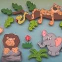 Dzsungel habszivacsból, Dekoráció, Baba-mama-gyerek, Gyerekszoba, Baba falikép, 2 cm vastagságú hungarocellből készült szafaris szett, amely később tovább bővíthető, akár névvel, i..., Meska