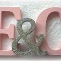Habszivacs, polisztirol, hungarocell monogram-betűk esküvőre, Dekoráció, Ünnepi dekoráció, Az ifjú pár nevének kezdőbetűje, amit a főasztalra állíthatsz, ezzel is személyesebbé téve az esküvő..., Meska