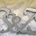 Habszivacs, polisztirol, hungarocell monogram-betűk esküvőre, Dekoráció, Ünnepi dekoráció, Az ifjú pár nevének kezdőbetűje.Ez is személyesebbé teszi az esküvőt! Az ár 5 karakterre vonatkozik:..., Meska