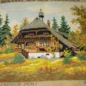 Gobelin kép, Dekoráció, Dísz, Gobelin, Hímzés, Hangulatos, 40x50 cm-es, kézzel varrott kép. Nincs bekeretezve, hogy a tulajdonos izlésének megfele..., Meska