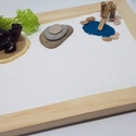 Zen kert - Teknőssel, Mini Zen kert, amit egy 18 x 13 cm-es natúr képk...