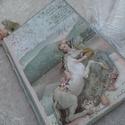 Lány unikornissal - napló, könyv, album , Naptár, képeslap, album, Jegyzetfüzet, napló, Romantikus könyv, napló 78 barna színű lappal, mérete A/5. Leginkább naplónak, emlékkönyvnek tudnám ..., Meska