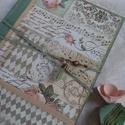 Rózsakönyv - napló, könyv, album , Naptár, képeslap, album, Jegyzetfüzet, napló, Különleges záródással készített romantikus könyv, napló 78 barna színű lappal, mérete A/5. Leginkább..., Meska