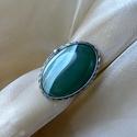 Achát gyűrű, Ékszer, Gyűrű, Ékszerkészítés, Fémmegmunkálás, Saját tervezésű egyedi kézműves alkotás.  A gyűrű Tiffany technikával készült achát és ólommentes, ..., Meska
