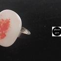 Üveg gyűrű (Sun), Ékszer, óra, Gyűrű, Egyedi, divatos, üvegből készült gyűrű. A gyűrű nagysága állítható, így minden kézre m..., Meska