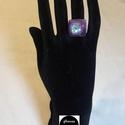 Dichroic üveg gyűrű (Mályva), Ékszer, Gyűrű, Egyedi, divatos, üvegből készült gyűrű. A gyűrű nagysága állítható, így minden kézre m..., Meska