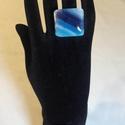 Üveg gyűrű (Bahama), Ékszer, Gyűrű, Egyedi, divatos, üvegből készült gyűrű. A gyűrű nagysága állítható, így minden kézre m..., Meska