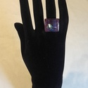 Dichroic üveg gyűrű (Párizs), Ékszer, Gyűrű, Egyedi, divatos, üvegből készült gyűrű. A gyűrű nagysága állítható, így minden kézre m..., Meska