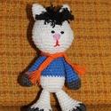 Horgolt Mirr-murr, Baba-mama-gyerek, Játék, Plüssállat, rongyjáték, Horgolás, Mintha csak a meséből lépett volna ki Mirr - murr. Kb 15 cm magas, horgolással készült macska., Meska