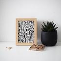 Kanva Natural asztali/falikép // fehér, nagy, Dekoráció, Otthon, lakberendezés, Kép, Falikép, Fotó, grafika, rajz, illusztráció, Újrahasznosított alapanyagból készült termékek, Vigyél egy kis természetet irodádba!  Kanva Natural asztali/falikép Méret: 15x20 cm + keret A grafi..., Meska