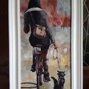 Andre Kohn: Utcai séta, Képzőművészet, Festmény, Akril, Festészet, A festmény Andre Kohn: Utcai séta c. műve alapján készült.  technika: akril anyaga: farost mérete: ..., Meska