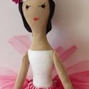 Balerina baba, Baba-mama-gyerek, Játék, Játékfigura, Baba, babaház, A balerina textilbaba tüll szoknyában,  65cm-es magassággal készült. Műszállal töltött. Szeme , száj..., Meska