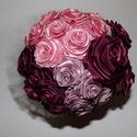 Rózsa csokor, Esküvő, Dekoráció, Esküvői csokor, Csokor, Varrás, Mindenmás, Rózsáimat csokorba rendeztem.  Három  színből alkottam  . Esküvőre ajánlom.  , Meska