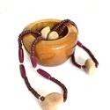 """Fa gyöngy nyaklánc - """"közel a természethez"""" életérzést kedvelőknek!, Színes fa gyöngyökből készült természetes n..."""