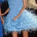 """Horgolt """"bulis"""" Barbie ruha, Játék, Baba játék, Horgolás, Pamut fonalból horgolt Barbie ruha, szempilla-fonal dísszel., Meska"""
