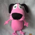 Bátor a gyáva kutya, Baba-mama-gyerek, Játék, Játékfigura, Saját tervezésű minta alapján készült. Magassága 28 cm. Kezei és lábai mozgathatóak. Alacsony hőfoko..., Meska