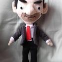 Mr. Bean, Baba-mama-gyerek, Játék, Plüssállat, rongyjáték, Játékfigura, Saját tervezésű és készítésű szabásminta alapján készítettem . Teljes magassága 40 cm.  Zakója leveh..., Meska