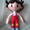 Lola baba, Játék, Játékfigura, Plüssállat, rongyjáték,  Kb. 35 cm magas. Ruhája nem levehető.  Köszönöm, hogy itt voltál!, Meska