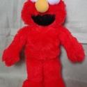 Elmo, Baba-mama-gyerek, Játék, Plüssállat, rongyjáték, Játékfigura, Baba-és bábkészítés, Varrás, Saját tervezésű és készítésű szabásminta alapján készítettem . Teljes magassága 30 cm. Kíméletesen ..., Meska