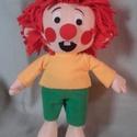 Pumukli, Baba-mama-gyerek, Játék, Játékfigura, Plüssállat, rongyjáték, 35 cm magas Pumukli figura. Saját terv alapján készült. Tisztítása külsőleg.  Köszönöm, hogy itt vol..., Meska