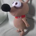 Pat a kutya, Baba-mama-gyerek, Játék, Játékfigura, Plüssállat, rongyjáték, Saját szabásminta alapján készült , 25 cm magas + fülei   Alacsony hőfokon mosható.  Köszönöm, hogy ..., Meska