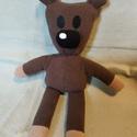 Teddy, Baba-mama-gyerek, Játék, Plüssállat, rongyjáték, Mikropolárból készült Mr. Bean Teddy macika. 30 cm magas.  Szükség szerint mosható alacsony hőfokon...., Meska