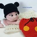 Egeres szett babafotózáshoz, Baba-mama-gyerek, Puha, bababarát fonalból készült, sapka és pelenkatakaró bugyi 0-3 hónapos méret Kérésre b..., Meska