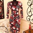 Burgundi rózsás art ruha, Ruha, divat, cipő, Női ruha, Ruha, Vigyél színt a szürke hétköznapokba...  Kellemes burgundi árnyalatú, rafináltan csinosító mintájú ru..., Meska